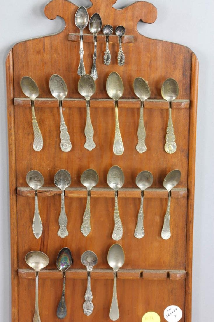2 Spoon Racks with Silver and Non Silver Spoons - 3