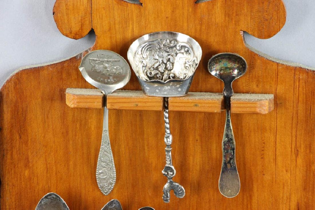 2 Spoon Racks with Silver and Non Silver Spoons - 4