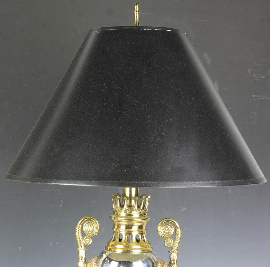 Pair of Brass Nickel Plated Table Lamps - 5