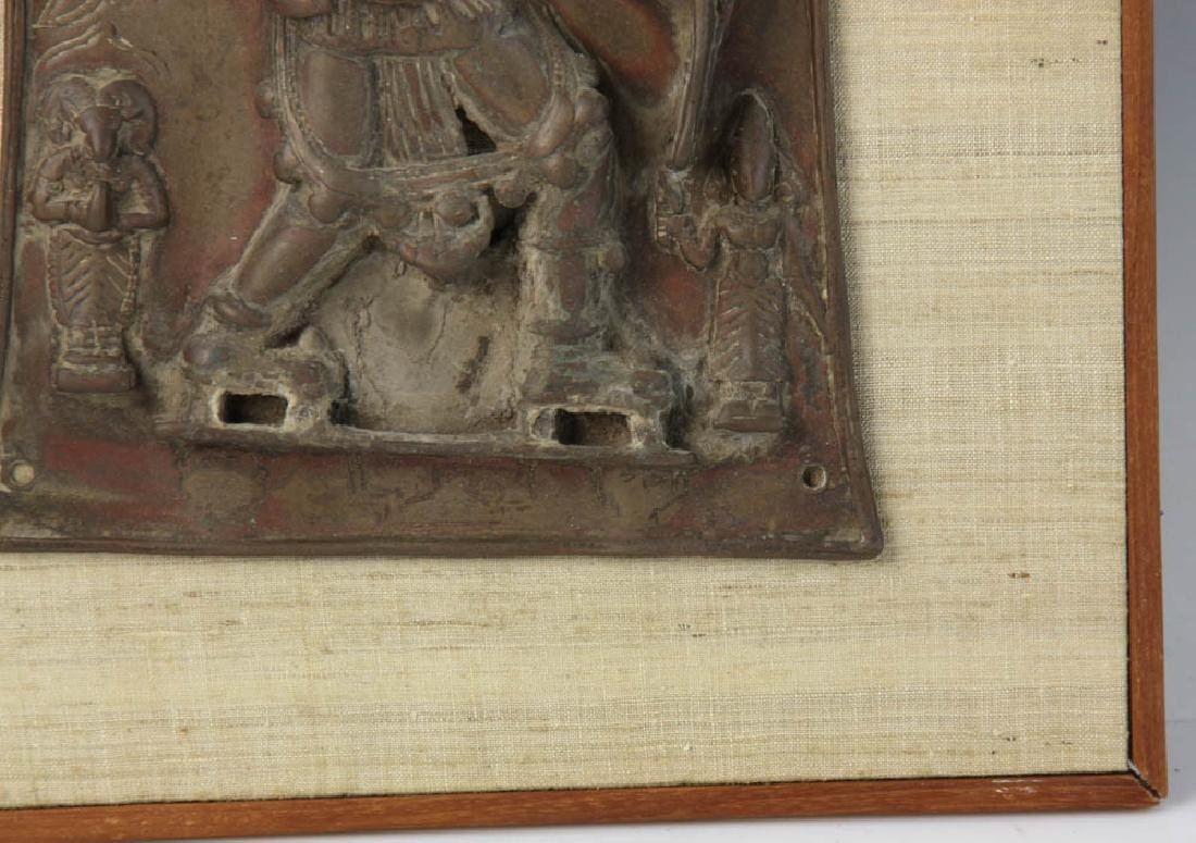14th Century Indian Bronze Plaque - 4