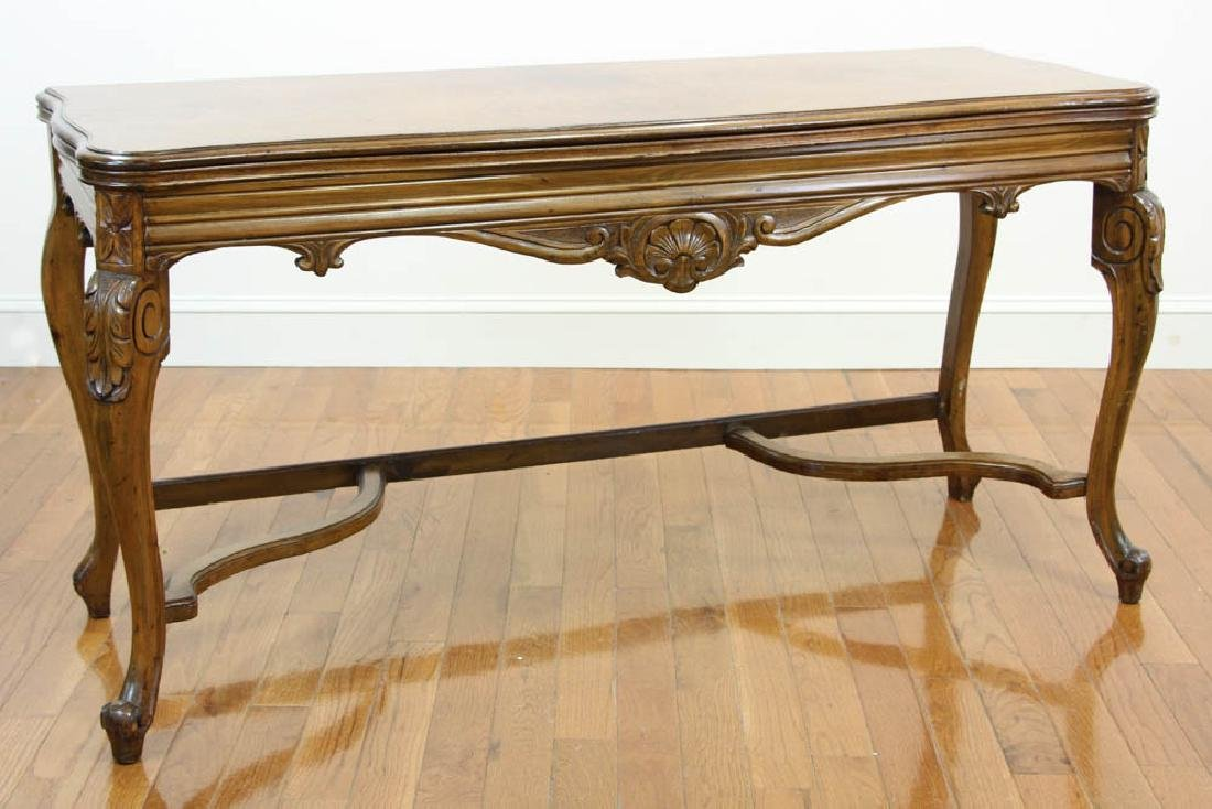 French Walnut Hall Table