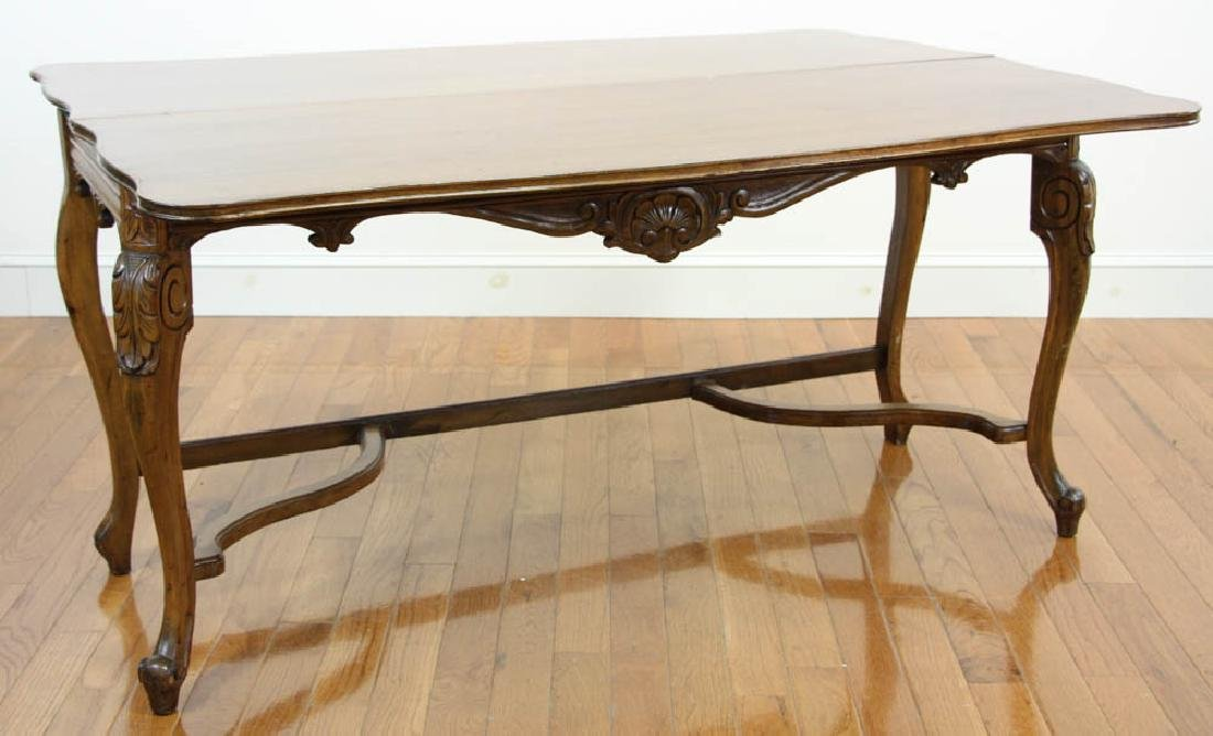 French Walnut Hall Table - 2