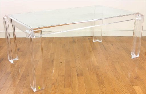 Mid Century Lucite Dining Table