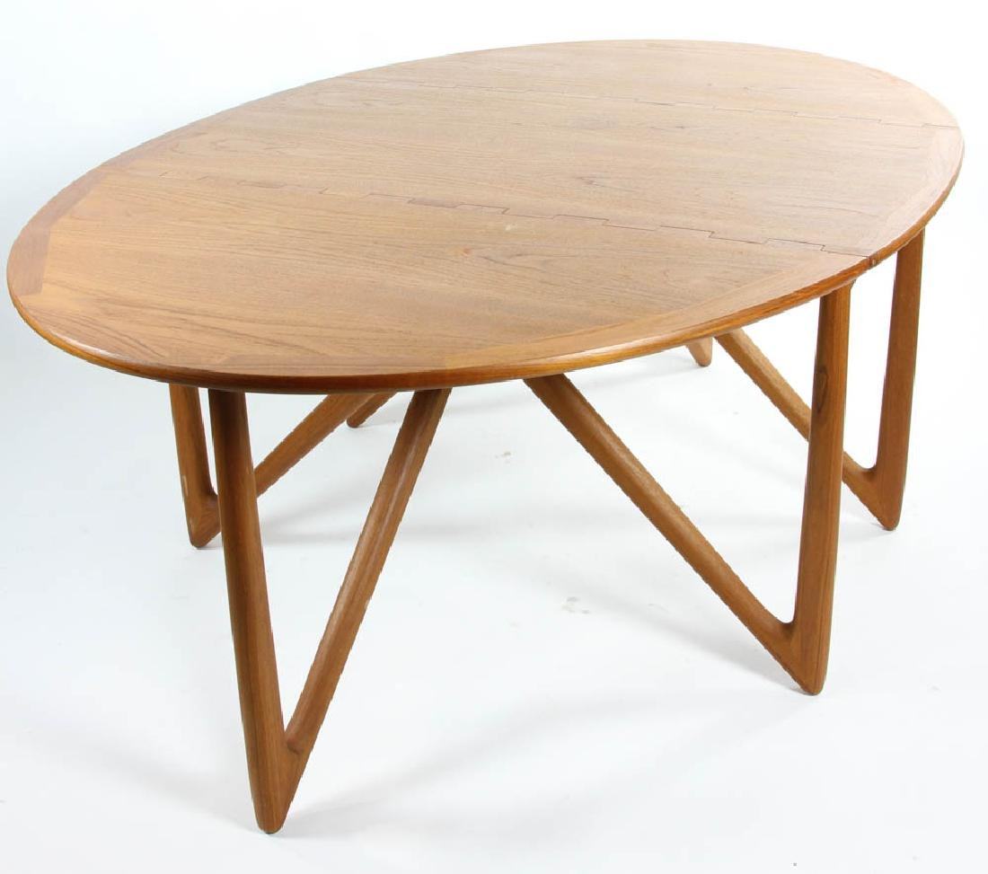 Danish Teakwood Drop Leaf Dining Table