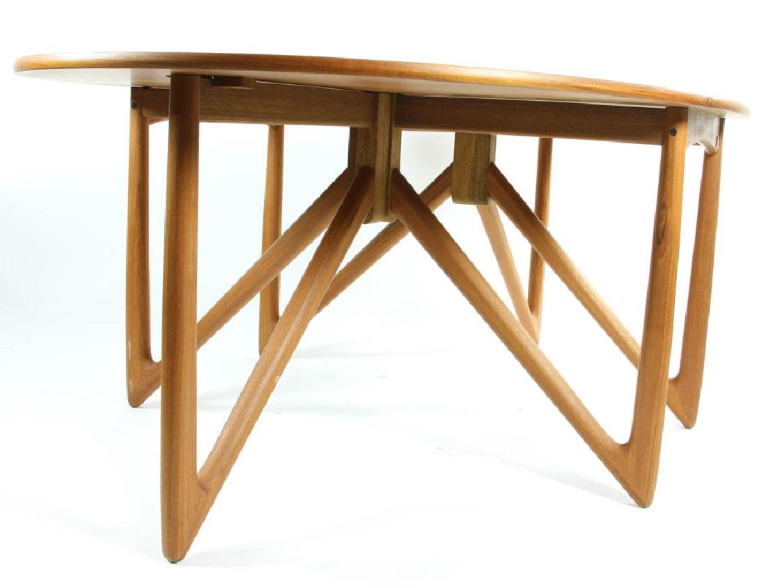 Danish Teakwood Drop Leaf Dining Table - 4
