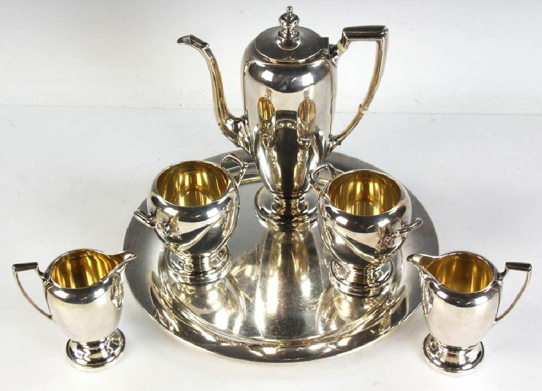 Reed & Barton Sterling Tea Service w/ Tray - 3