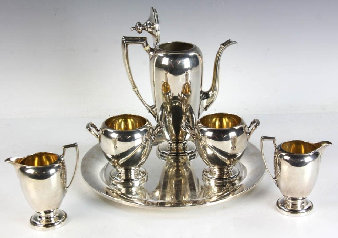 Reed & Barton Sterling Tea Service w/ Tray - 4