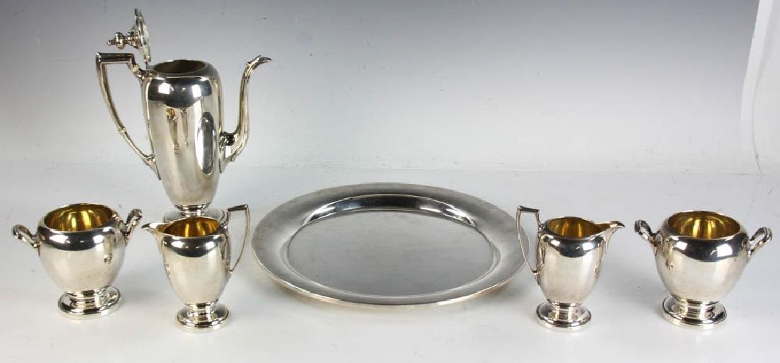 Reed & Barton Sterling Tea Service w/ Tray - 6