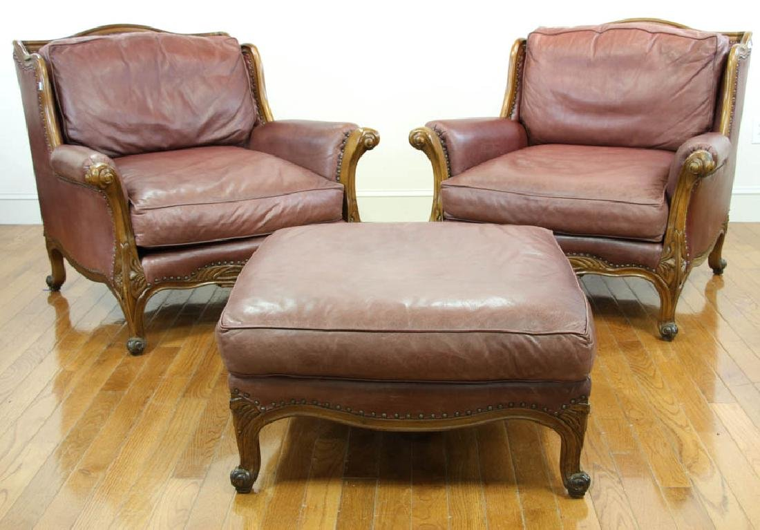 Ralph Lauren Leather Club Chair