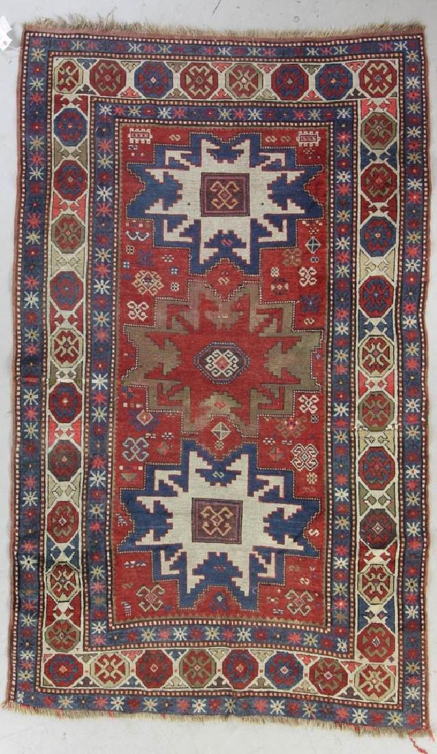 Antique Caucasian Kazak Rug