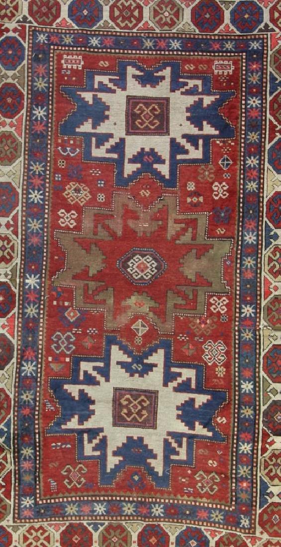 Antique Caucasian Kazak Rug - 2
