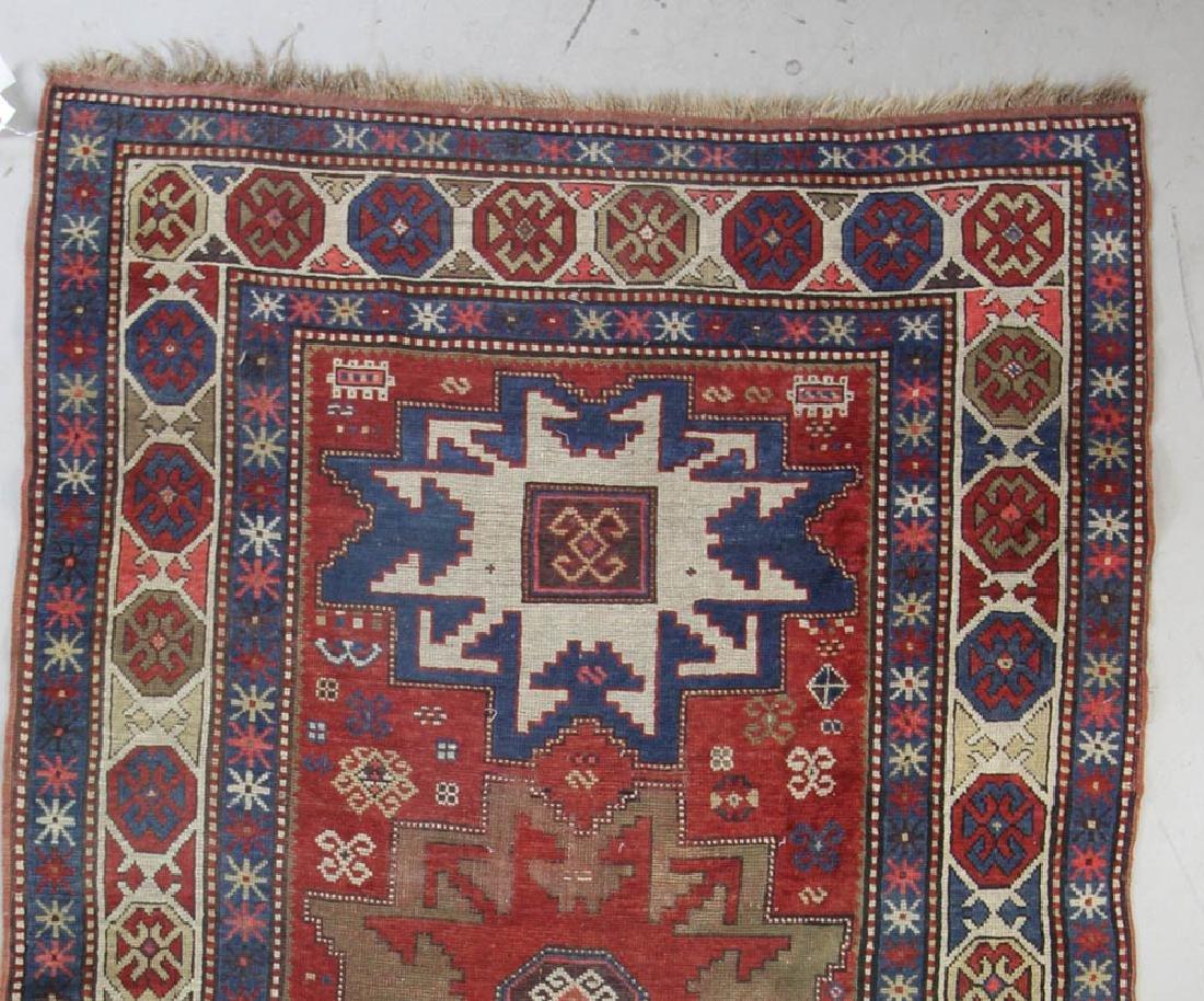 Antique Caucasian Kazak Rug - 4