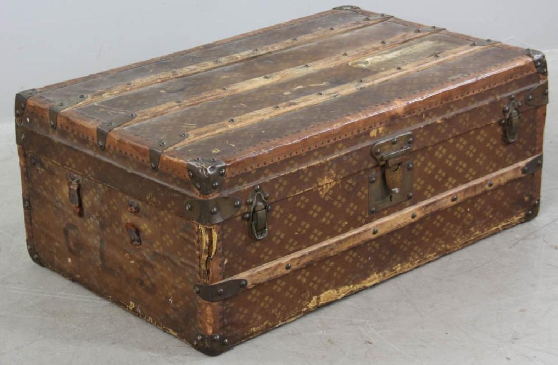 Antique French Aux Estats-Unis Trunk - 5