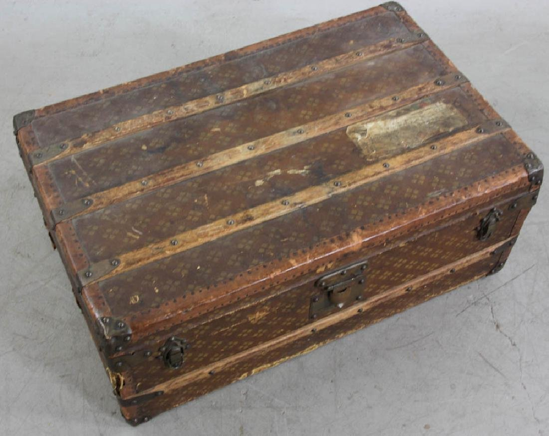 Antique French Aux Estats-Unis Trunk - 6