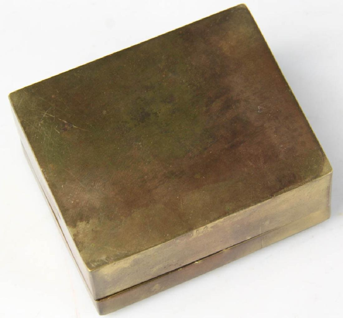 Chinese Bronzed Box with Jade Plaque - 4