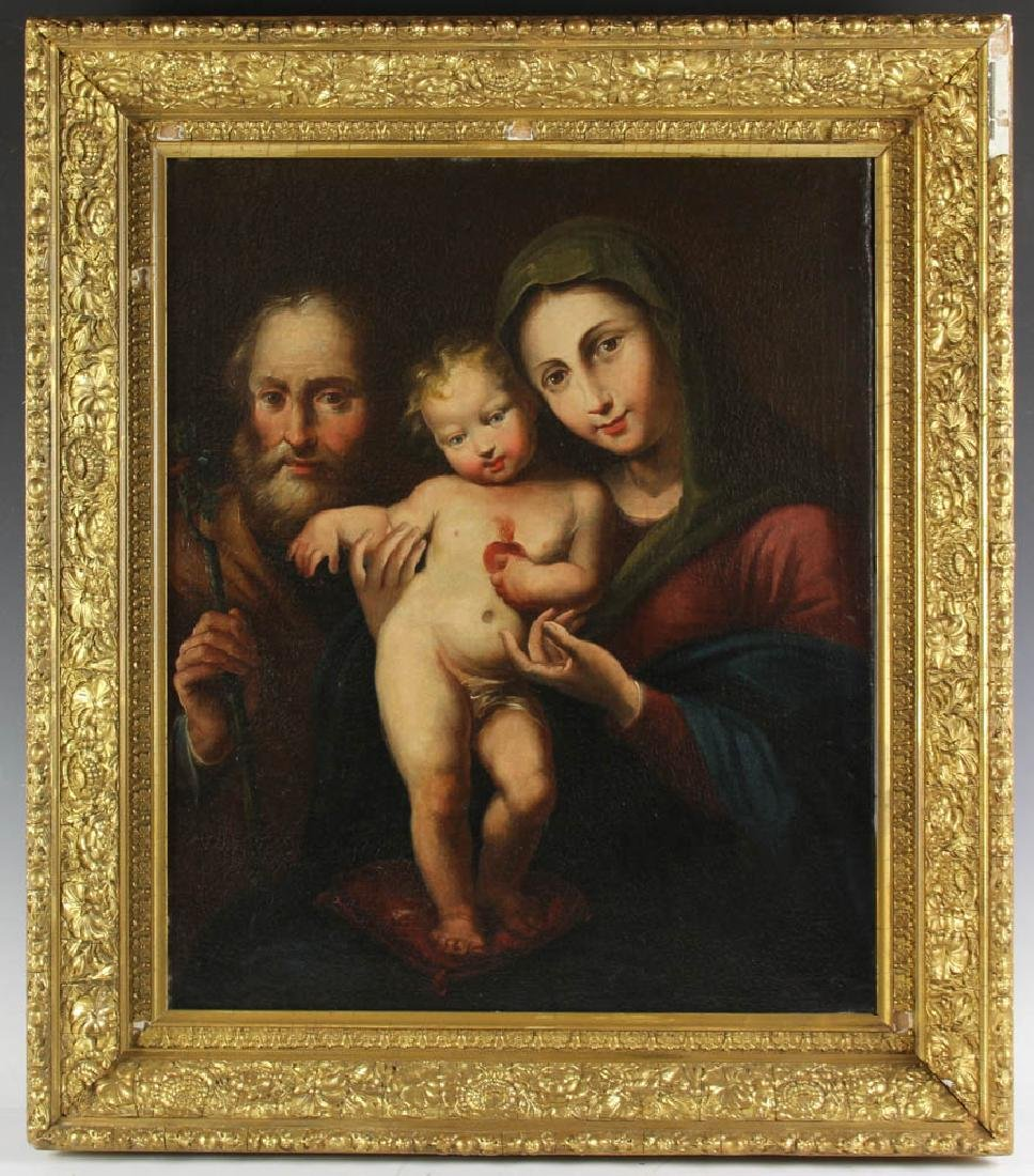 Old Master Style Oil on Canvas of Holy Family