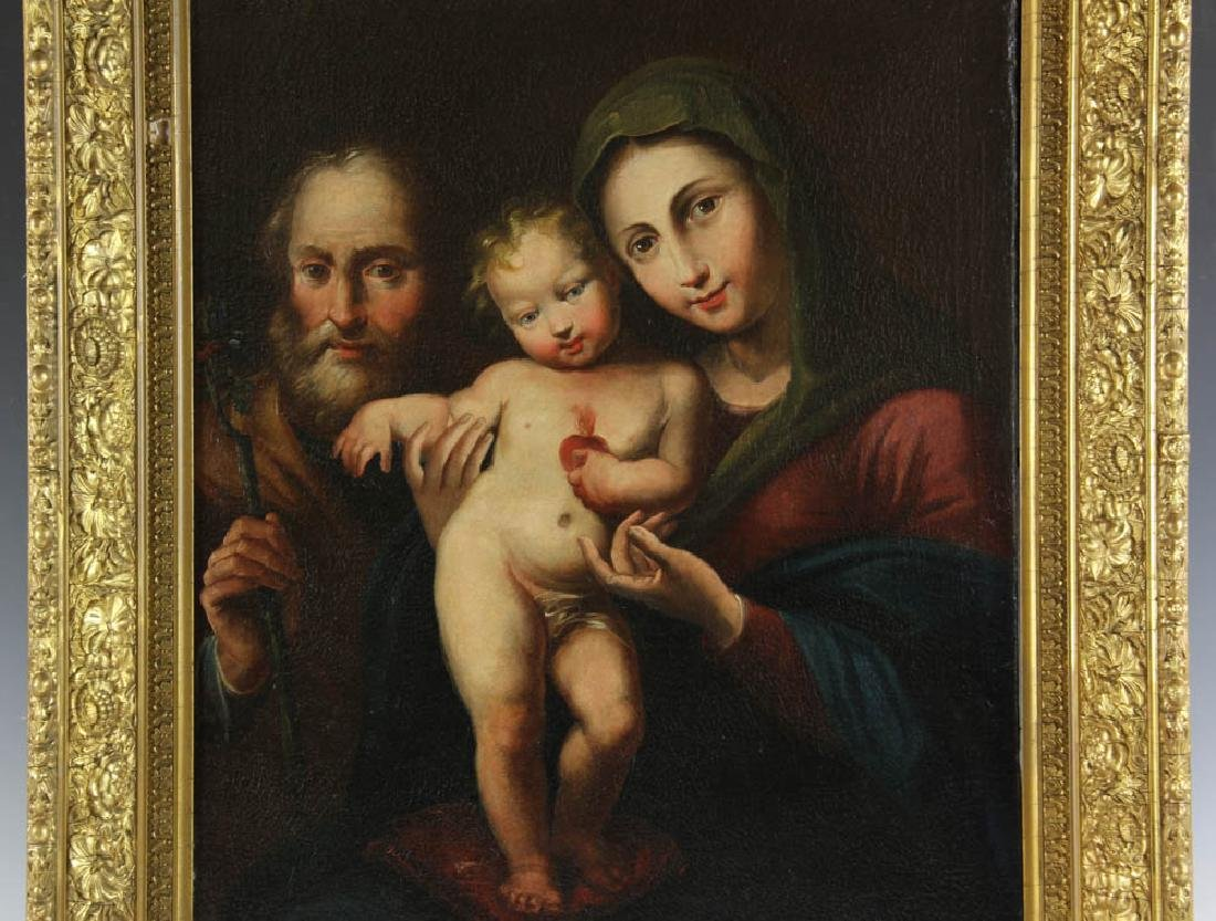 Old Master Style Oil on Canvas of Holy Family - 2