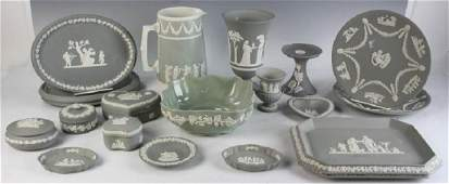 Collection of Grey Colored Jasperware
