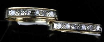 Two Ladies 14k Gold Diamond Rings