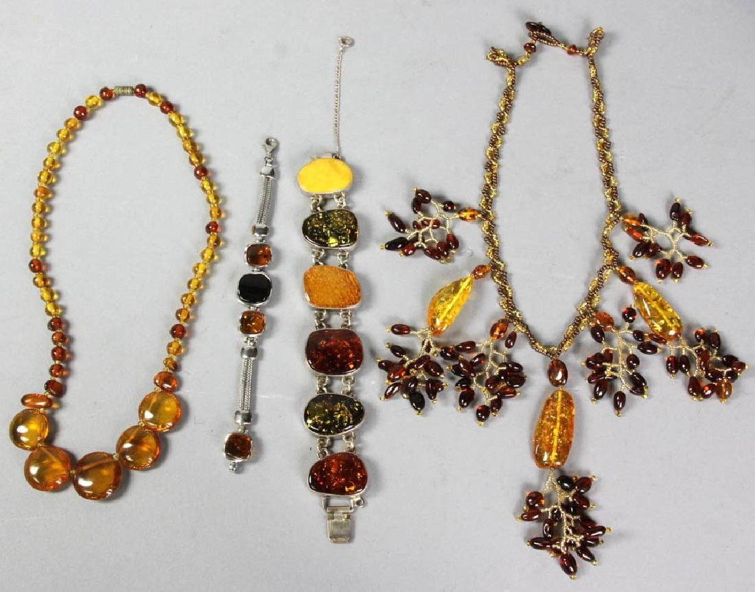 Amber Bead Necklaces and Bracelets