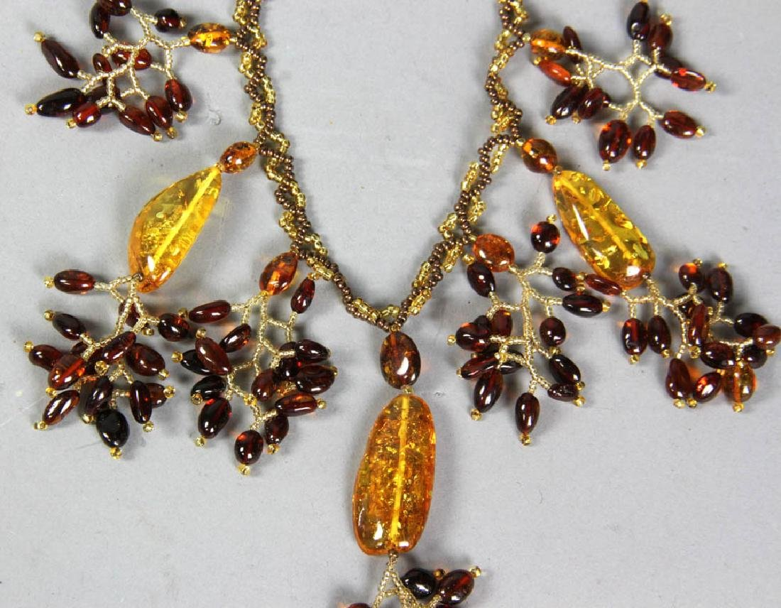 Amber Bead Necklaces and Bracelets - 3