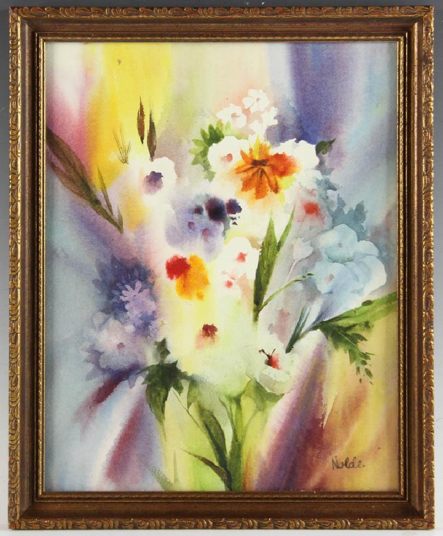 Floral Watercolor Attributed to Emil Nolde