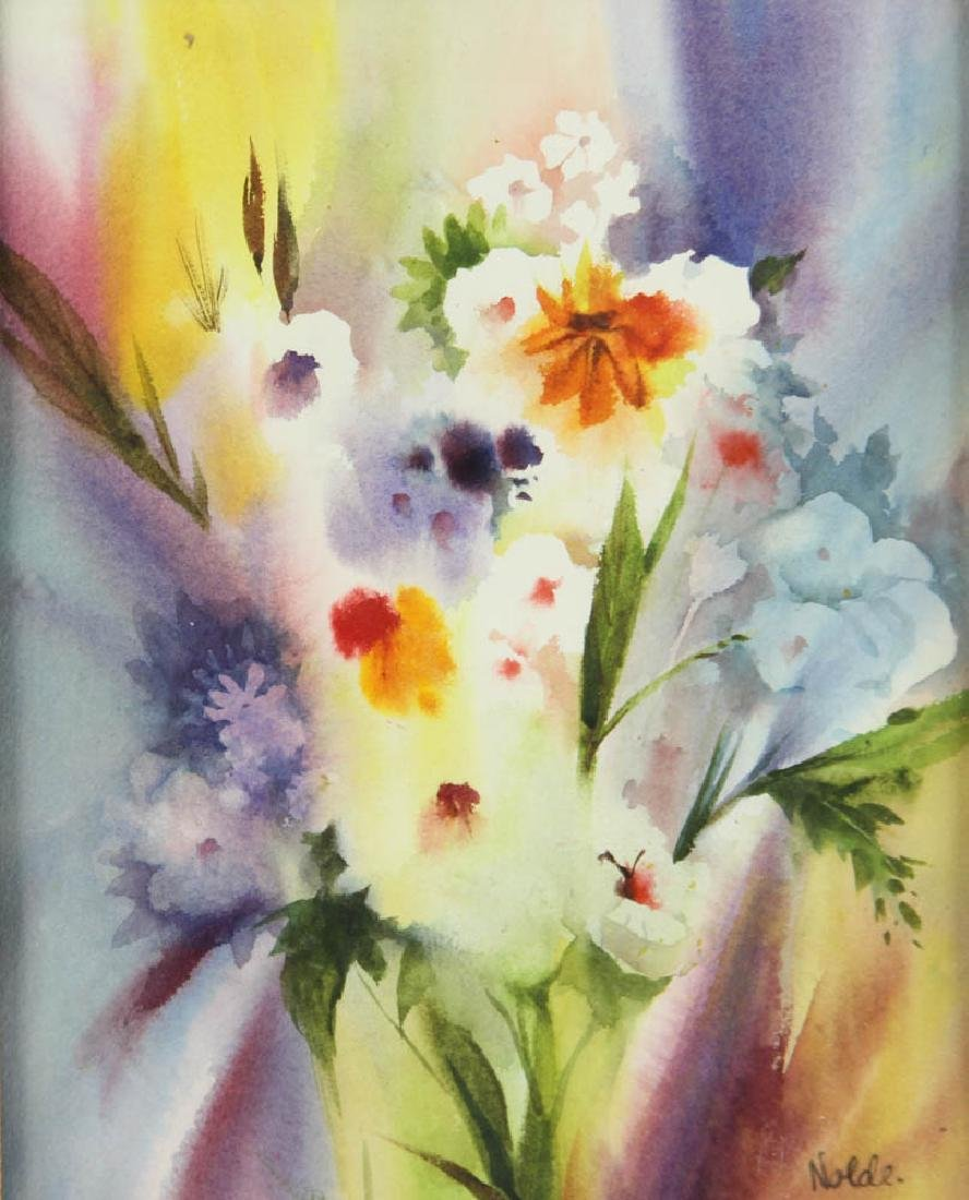 Floral Watercolor Attributed to Emil Nolde - 2