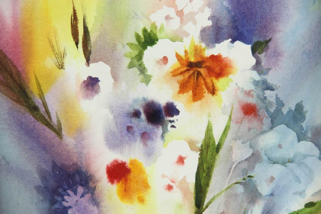 Floral Watercolor Attributed to Emil Nolde - 4