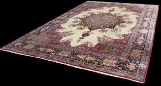 Semi Antique Persian Lavar Kerman Rug