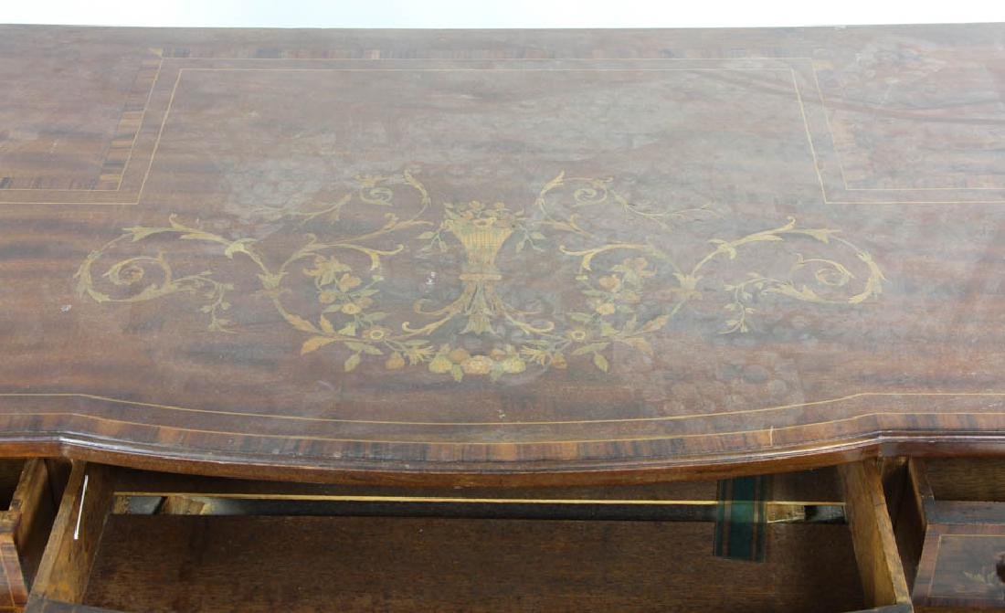 Knee Hole Desk with Marquetry Inlay - 3