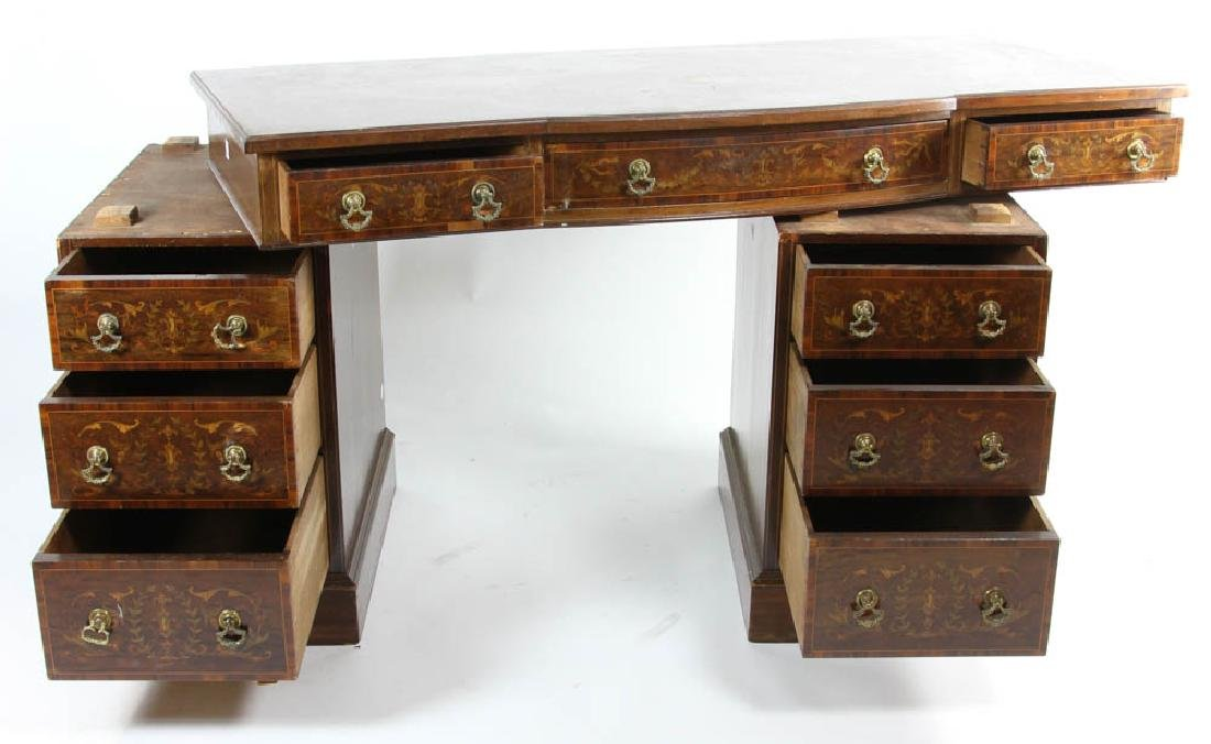 Knee Hole Desk with Marquetry Inlay - 6