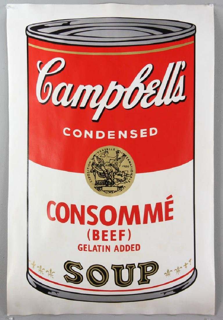 Andy Warhol Campbell's Beef Consommé Soup Screen Print