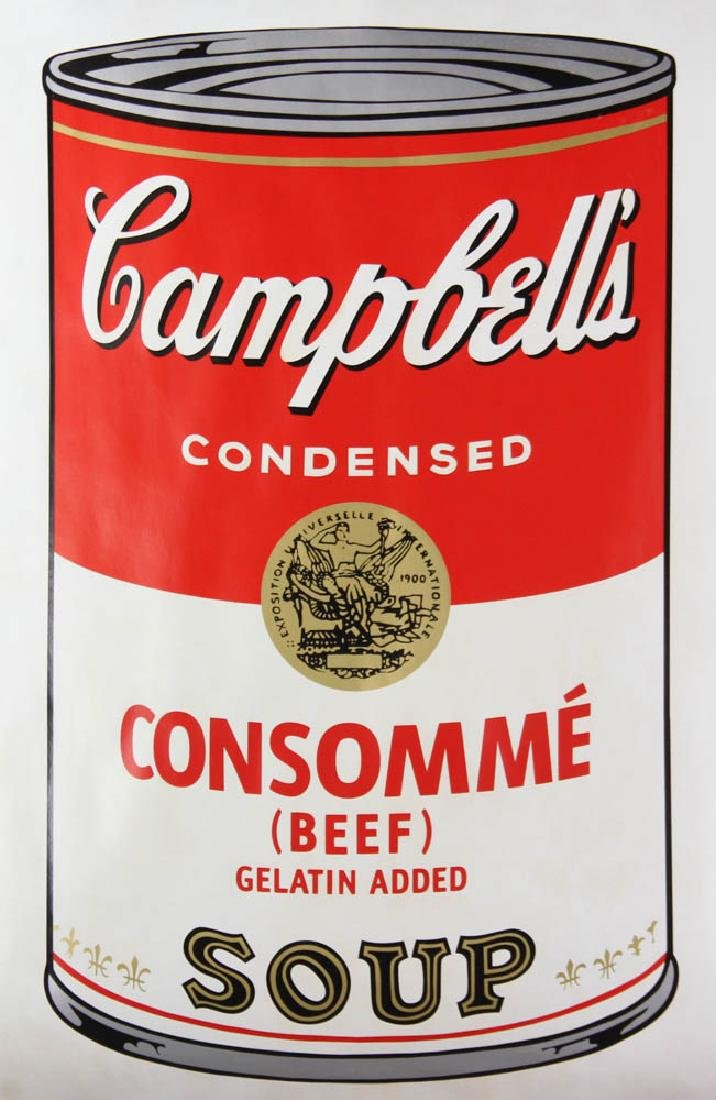 Andy Warhol Campbell's Beef Consommé Soup Screen Print - 2