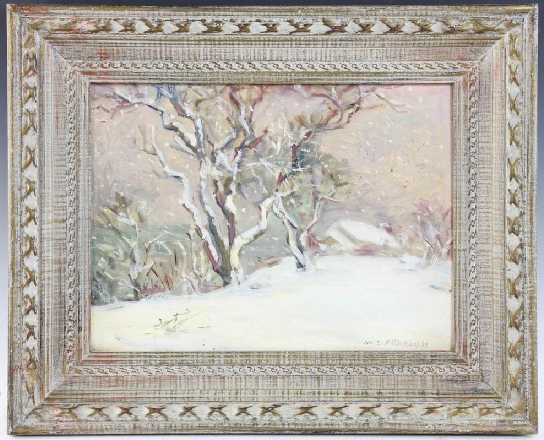 Marguerite Pearson, Winter Storm, Oil on Board