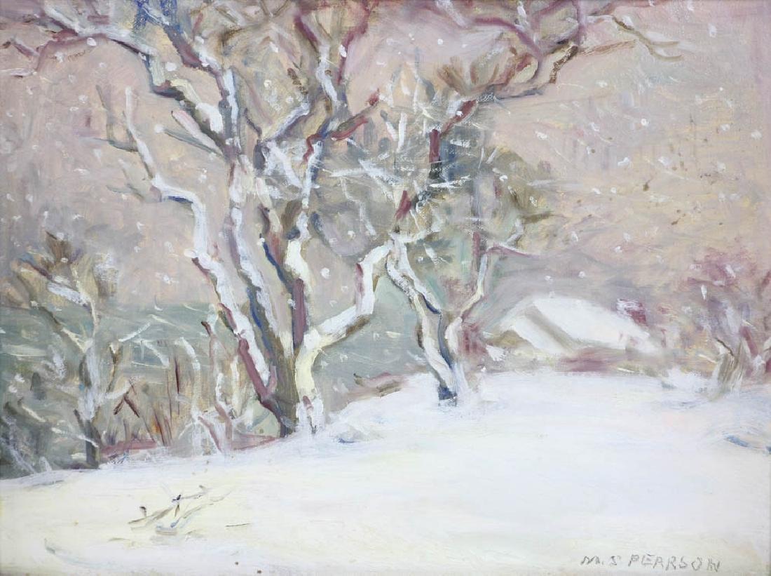 Marguerite Pearson, Winter Storm, Oil on Board - 2
