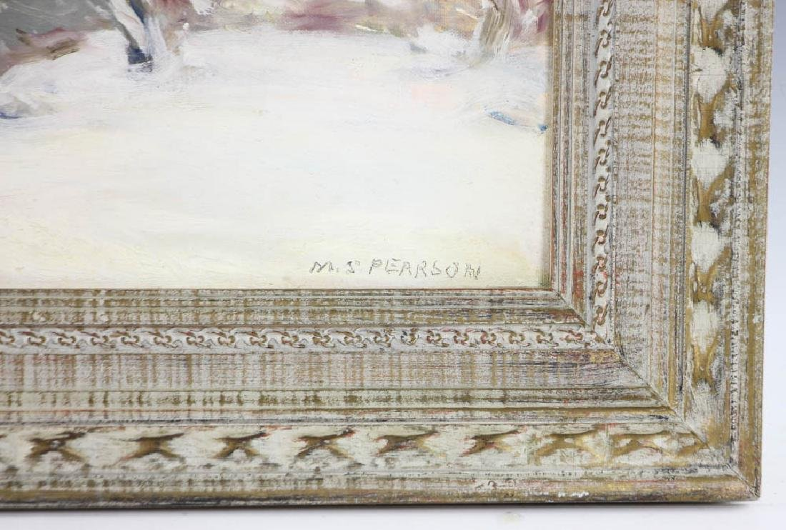 Marguerite Pearson, Winter Storm, Oil on Board - 4