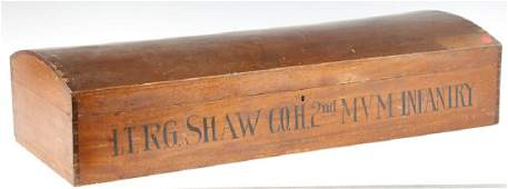 Mid 19thC  Box with Civil War Soldiers Name