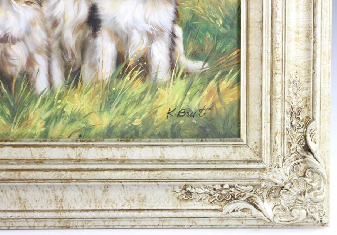 Oil on Board Portrait of Three Puppies - 3
