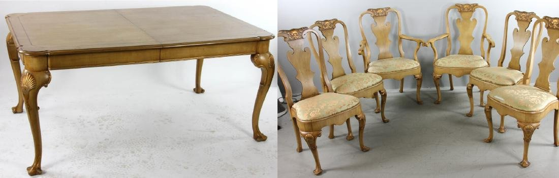 Chippendale Style Dining Table and Chairs