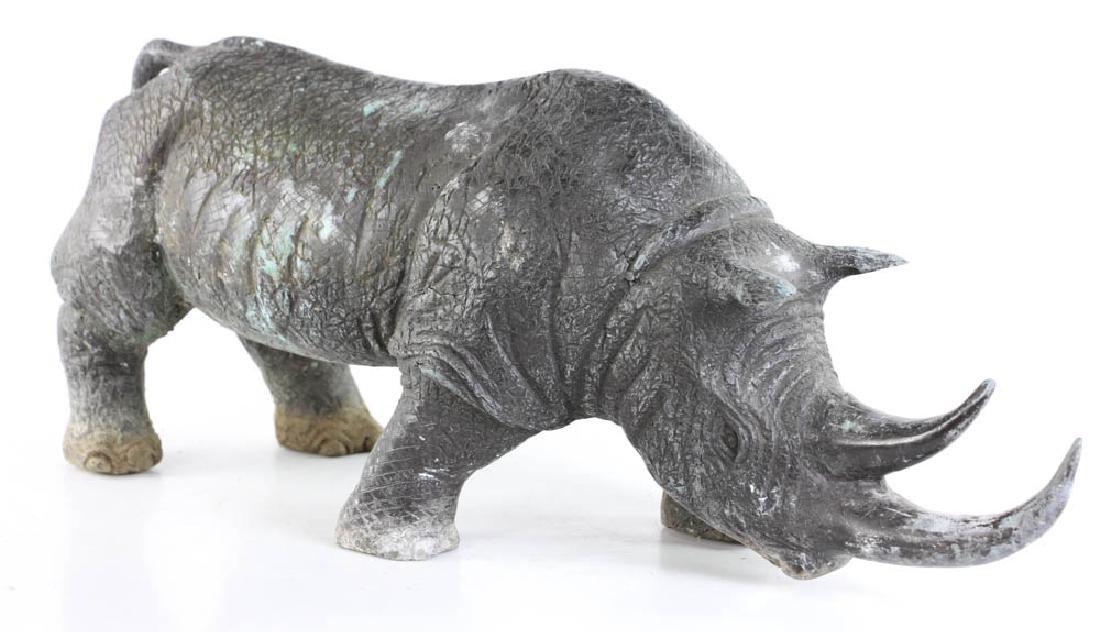 Bronze Figure of Rhinoceros - 4