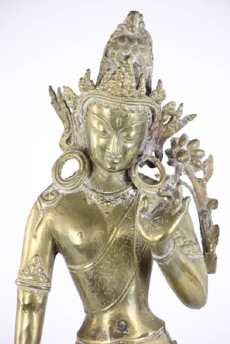 Bronze Quan Yang Figure - 7