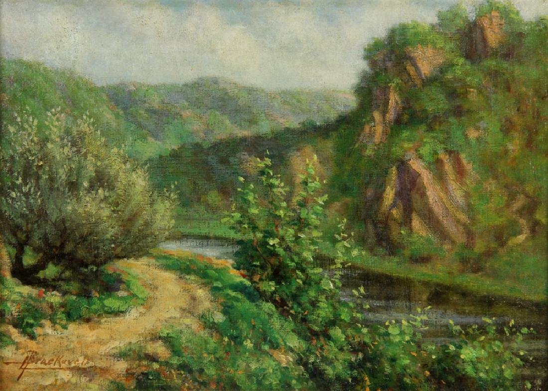Braekevelt, Landscape with River, Oil on Board - 3