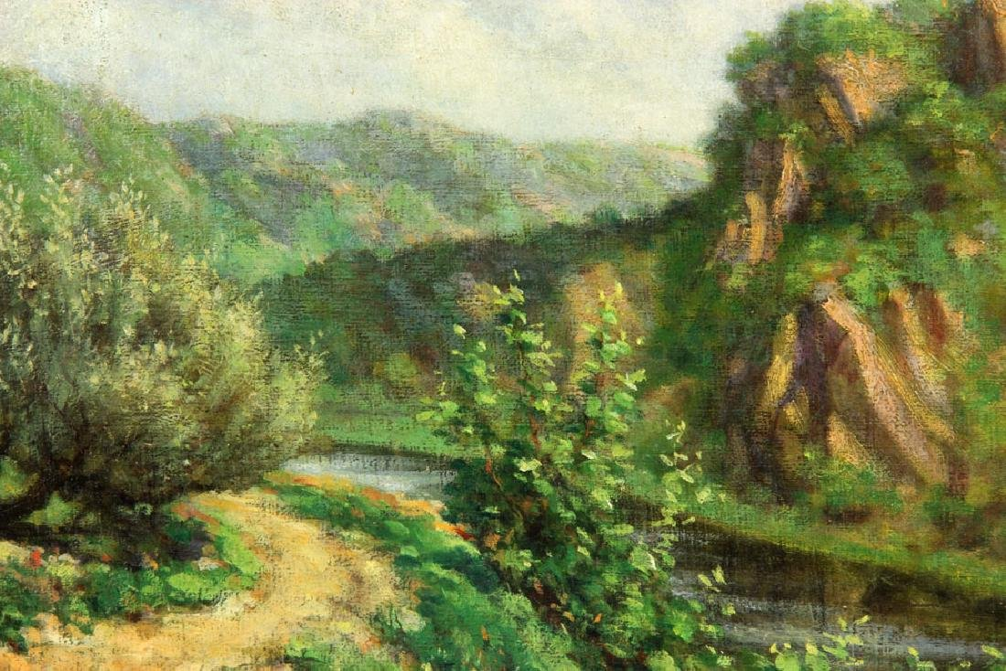 Braekevelt, Landscape with River, Oil on Board - 4