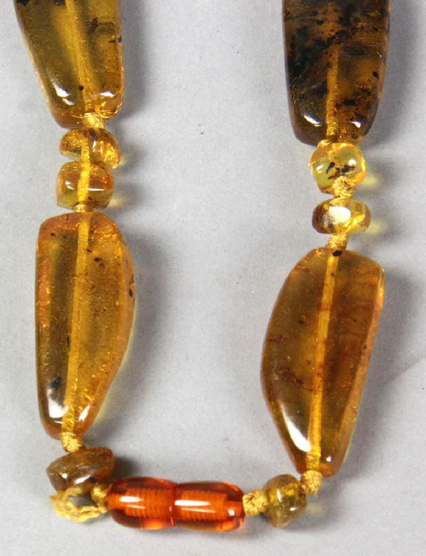 Amber Bead Necklace - 5