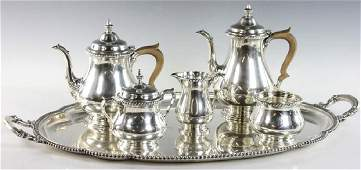 Gorham Sterling Tea Set and Tray