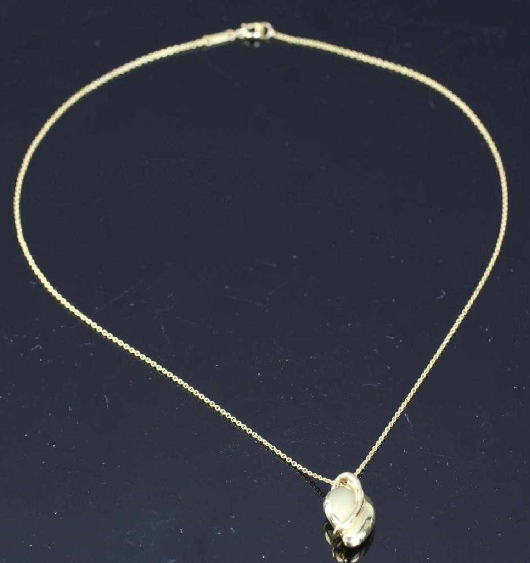 2131bf891 Tiffany Elsa Peretti 18k Mango Pendant Necklace