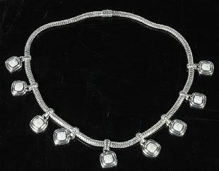 John Hardy Sterling and Diamond Necklace