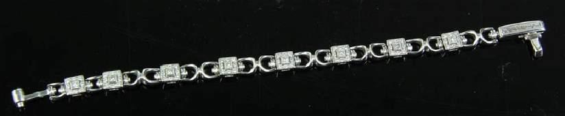 Charriol 18k White Gold Diamond Bracelet