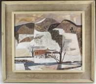 John Atherton Winter Landscape Oil