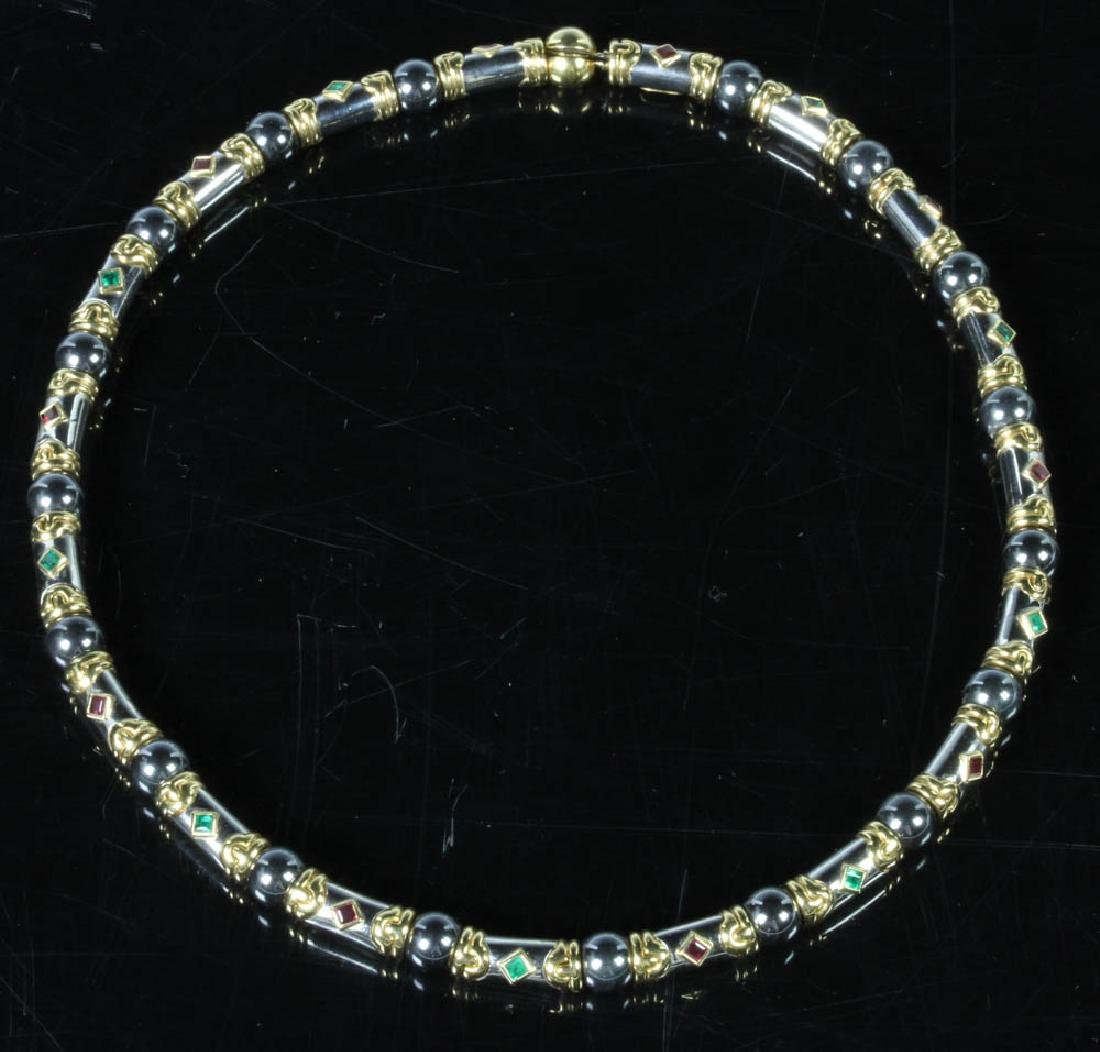 Bulgari 18k Gold Choker Necklace